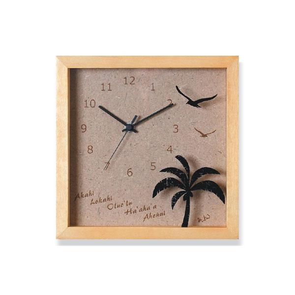 K-Art.Japan 壁掛け時計 PalmClock ナチュラル DC-1702【代引不可】