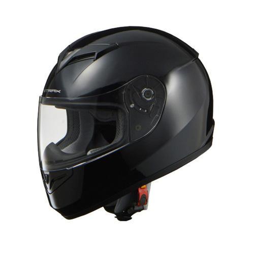 リード工業 STRAX フルフェイスヘルメット ブラック LLサイズ SF-12【代引不可】【北海道・沖縄・離島配送不可】