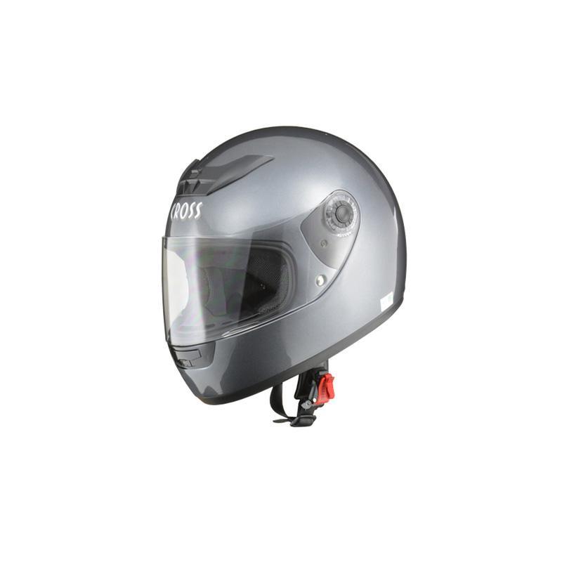 リード工業 CROSS フルフェイスヘルメット ガンメタリック フリーサイズ CR-715【代引不可】【北海道・沖縄・離島配送不可】
