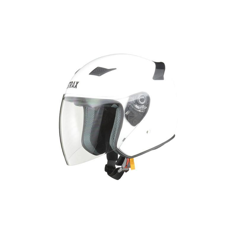 リード工業 STRAX ジェットヘルメット ホワイト LLサイズ SJ-8【代引不可】【北海道・沖縄・離島配送不可】