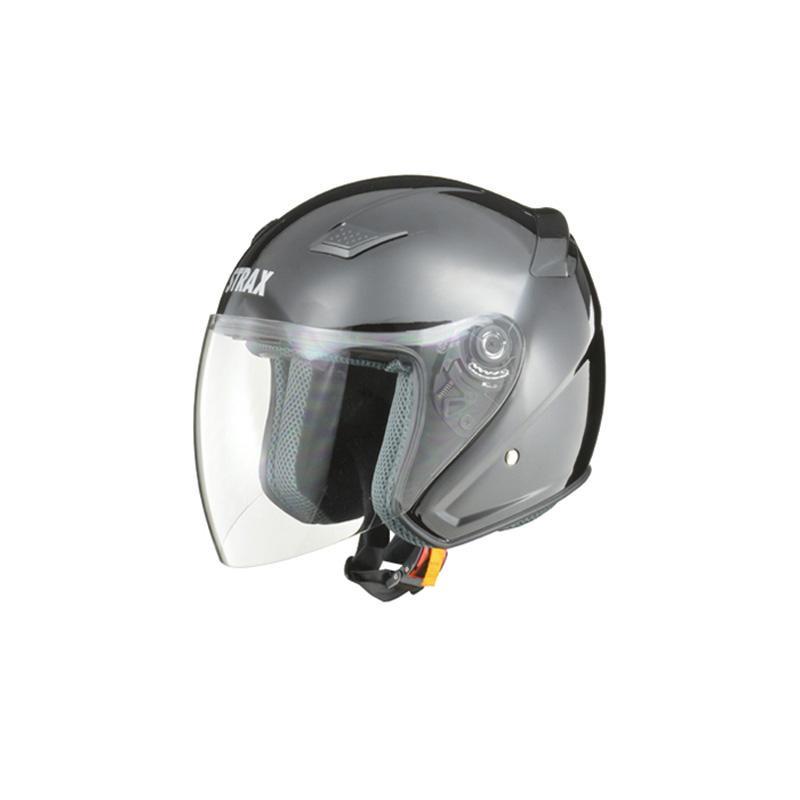 リード工業 STRAX ジェットヘルメット ブラック Lサイズ SJ-8【代引不可】【北海道・沖縄・離島配送不可】