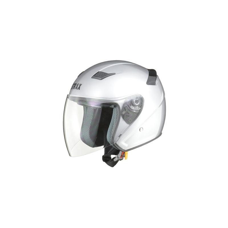 リード工業 STRAX ジェットヘルメット シルバー Lサイズ SJ-8【代引不可】【北海道・沖縄・離島配送不可】