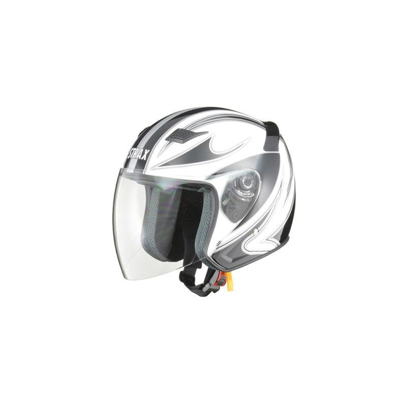 リード工業 STRAX ジェットヘルメット ホワイト Lサイズ SJ-9【代引不可】【北海道・沖縄・離島配送不可】