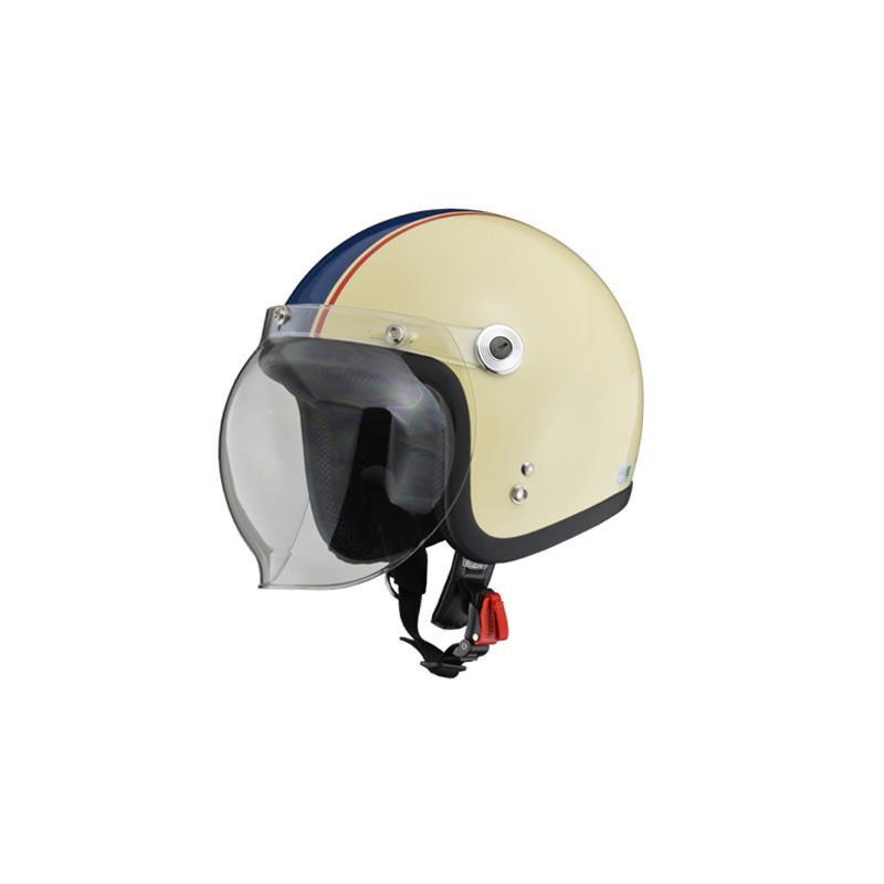 リード工業 BARTON ジェットヘルメット アイボリー×ネイビー フリーサイズ BC-10【代引不可】【北海道・沖縄・離島配送不可】