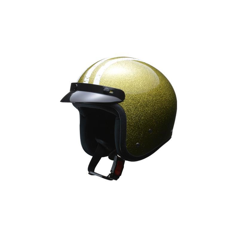 リード工業 LEAD FLAKER スモールジェットヘルメット ゴールド フリーサイズ【代引不可】【北海道・沖縄・離島配送不可】