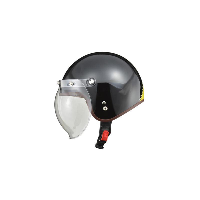 リード工業 LEAD NOVIA(ノービア) バブルシールド付スモールロージェットヘルメット ジップブラック レディースフリーサイズ【代引不可】【北海道・沖縄・離島配送不可】