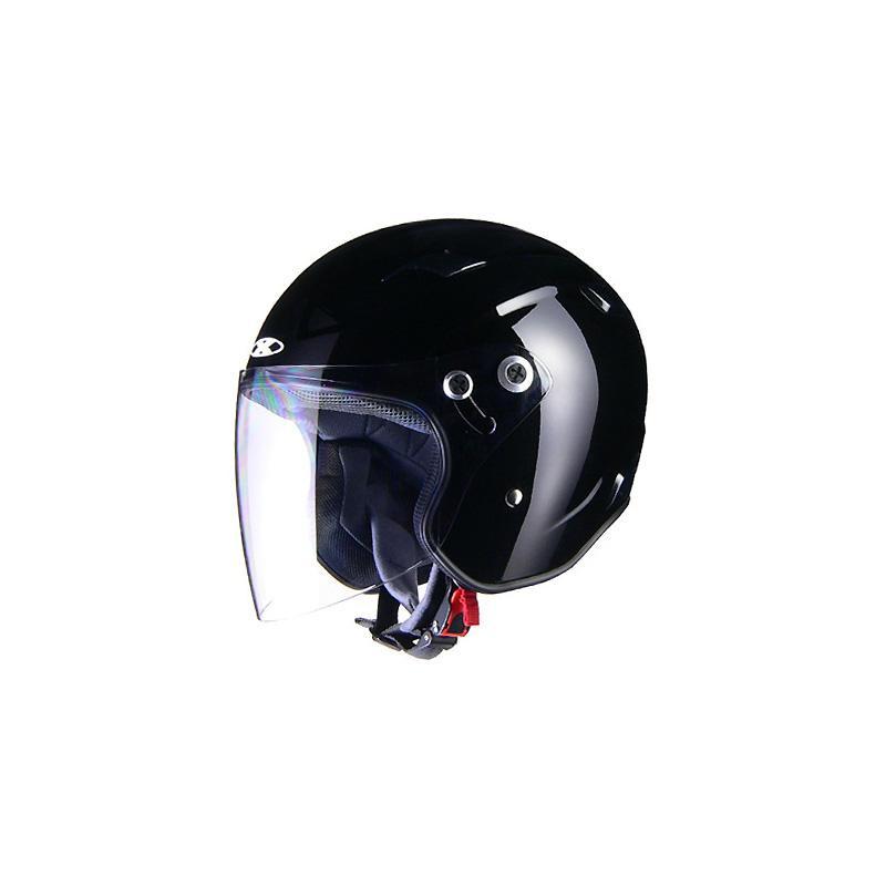 リード工業 X-AIR RAZZOIII ジェットヘルメット ブラック Lサイズ【代引不可】【北海道・沖縄・離島配送不可】