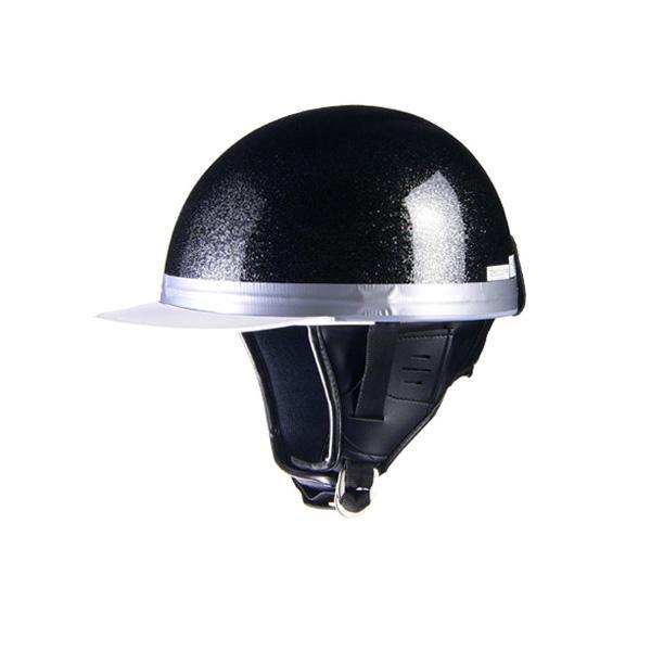 リード工業 HARVE コルクハーフヘルメット メタルブラック フリーサイズ HS-501【代引不可】【北海道・沖縄・離島配送不可】