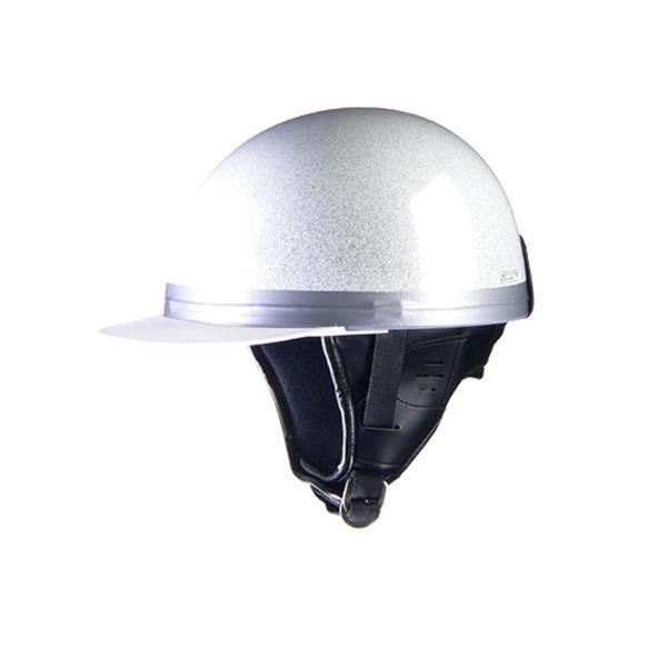 リード工業 HARVE コルクハーフヘルメット メタルホワイト フリーサイズ HS-501【代引不可】【北海道・沖縄・離島配送不可】