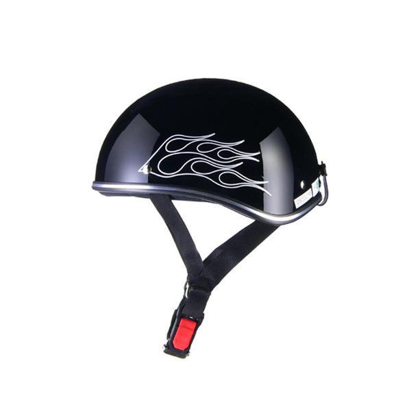 リード工業 D'LOOSE ハーフヘルメット ブラックフレア フリーサイズ D-356【代引不可】