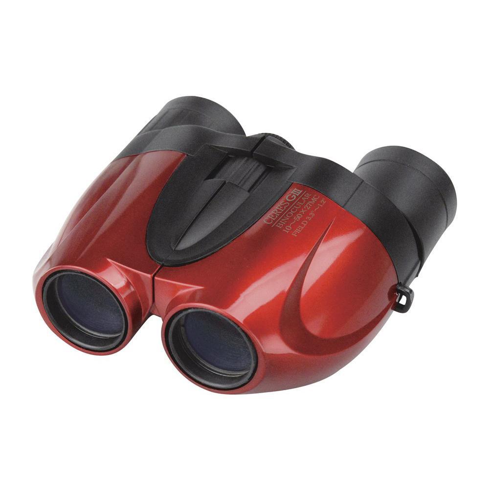 コンパクトなズーム双眼鏡。 【送料無料】双眼鏡 セレスGIII 10-50×27 CO5 レッド 071101【代引不可】