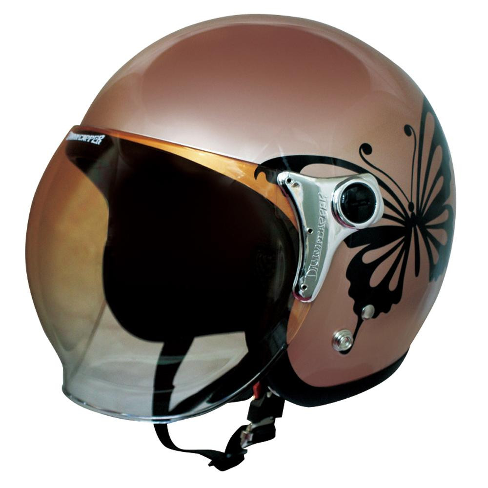ダムトラックス(DAMMTRAX) バイクヘルメット チア―バタフライ BROWN【代引不可】【北海道・沖縄・離島配送不可】