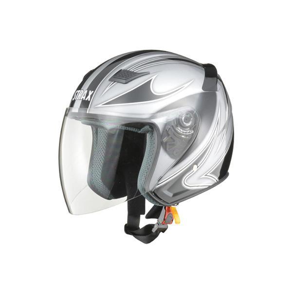リード工業 STRAX ジェットヘルメット シルバー Lサイズ SJ-9【代引不可】【北海道・沖縄・離島配送不可】