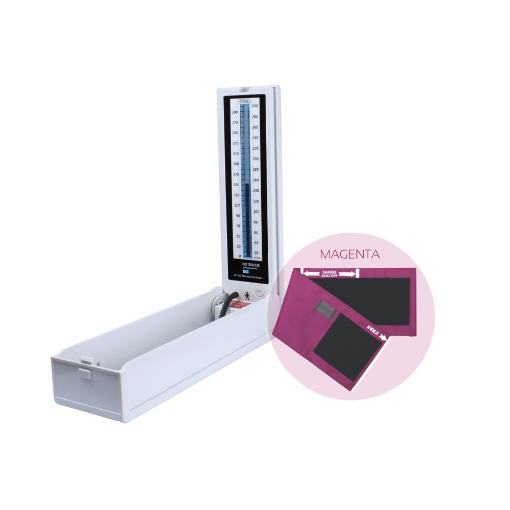 マーキュリーフリー血圧計 ナイロンカフ イージーリリースバルブ マゼンタ FC-500 20902-09【代引不可】