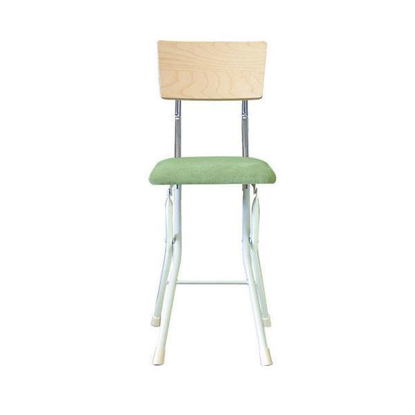 ルネセイコウ 日本製 折りたたみ椅子 フォールディング アッシュウッドチェア ナチュラル/グリーン AWC-48W【代引不可】