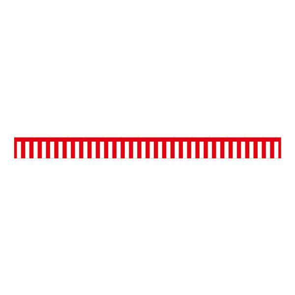 B紅白幕 23940 トロピカル 5間 H700【代引不可】
