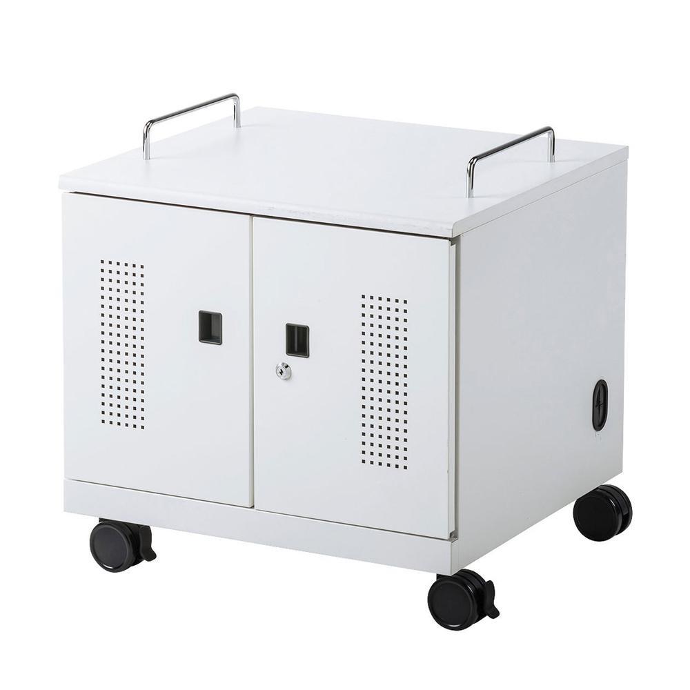サンワサプライ ノートパソコン収納キャビネット(6台収納) CAI-CAB105W【代引不可】【北海道・沖縄・離島配送不可】