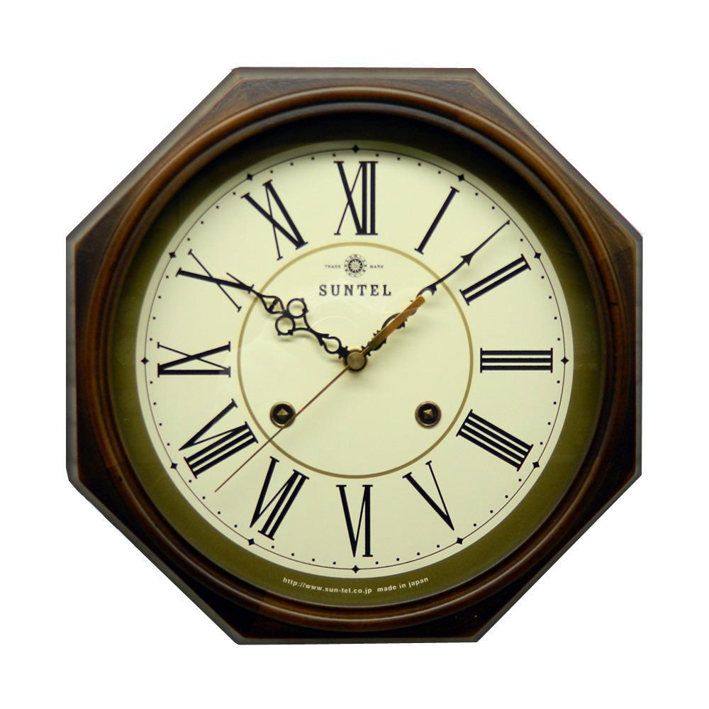 さんてる 日本製 EUスタイルクラシカル 電波掛け時計 アンティークブラウン DQL675-R (ローマ文字)【代引不可】【北海道・沖縄・離島配送不可】