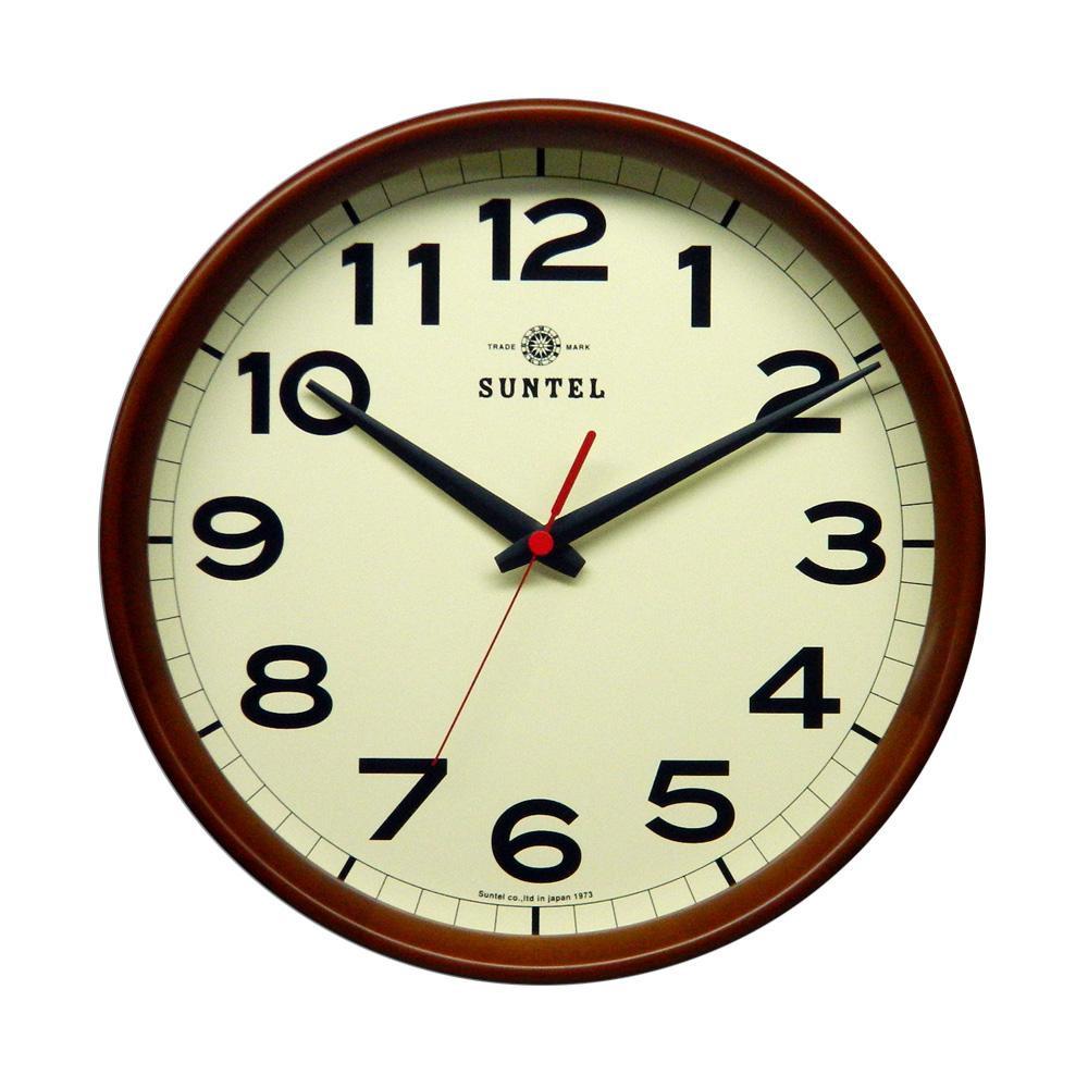 さんてる 日本製 シンプル電波掛け時計 ブラウン DQL699-BR【代引不可】【北海道・沖縄・離島配送不可】