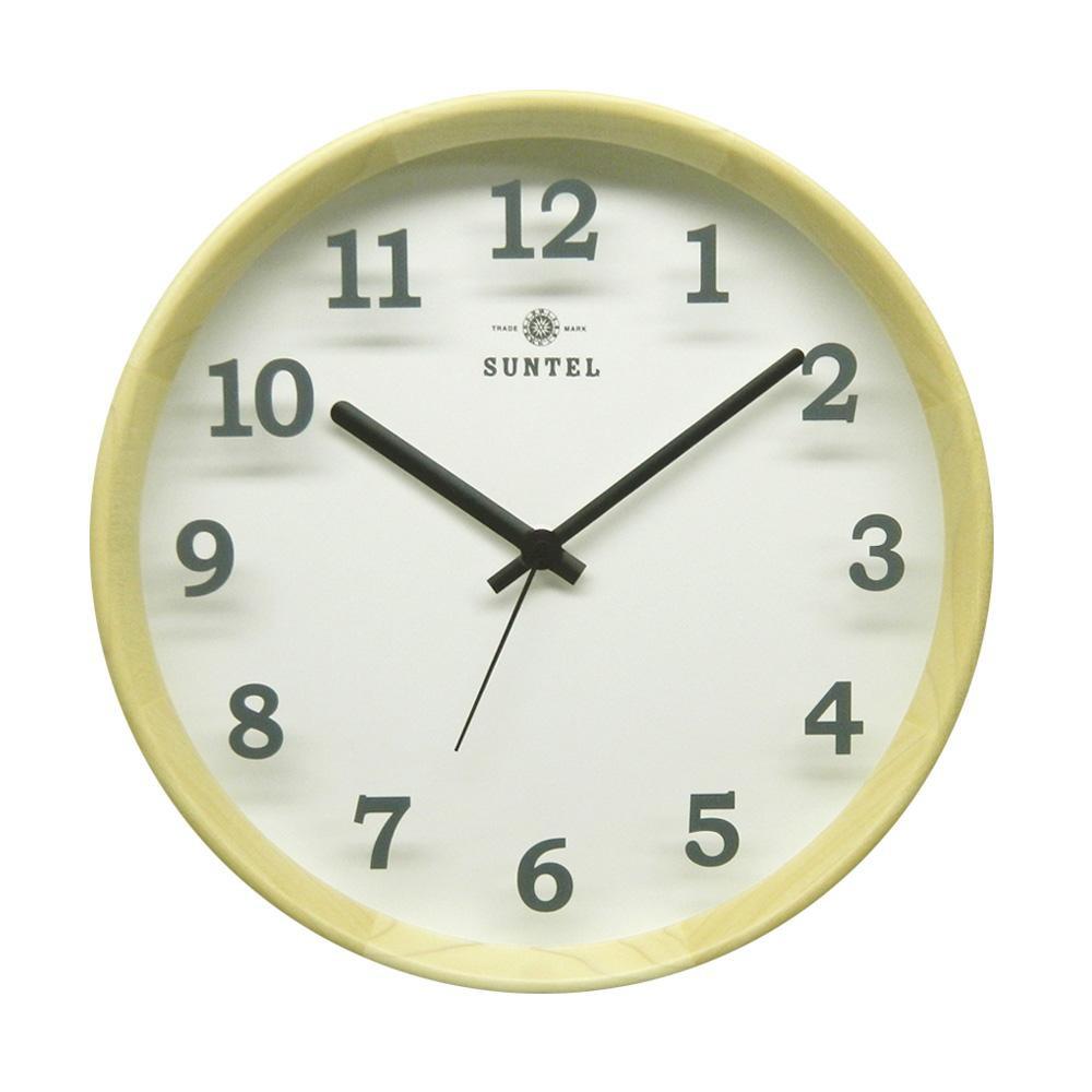 さんてる 日本製 シンプル掛け時計(木漏れ日) ナチュラル DQL695-NA【代引不可】【北海道・沖縄・離島配送不可】
