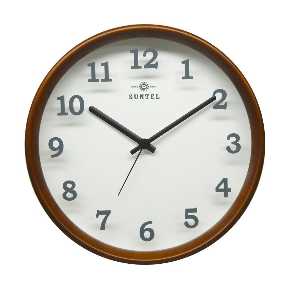 さんてる 日本製 シンプル掛け時計(木漏れ日) ブラウン DQL695-BR【代引不可】【北海道・沖縄・離島配送不可】