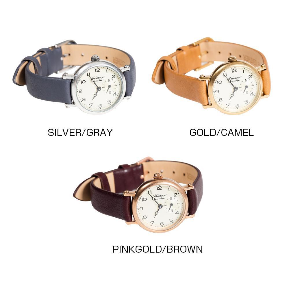 Hommage 腕時計 Pinkgold・brown・HG-020【代引不可】【北海道・沖縄・離島配送不可】