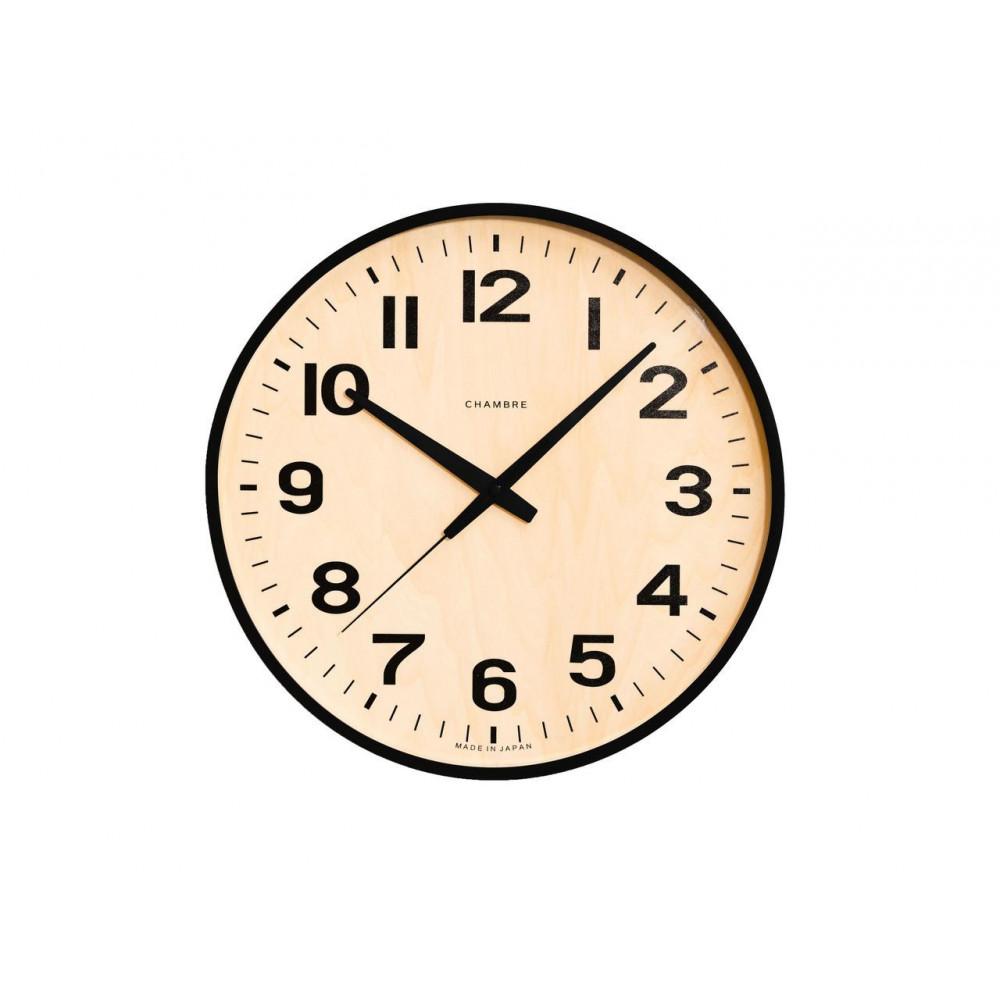 CHAMBRE PLYWOOD BLACK 電波時計 BLACK CH-038BK【代引不可】【北海道・沖縄・離島配送不可】