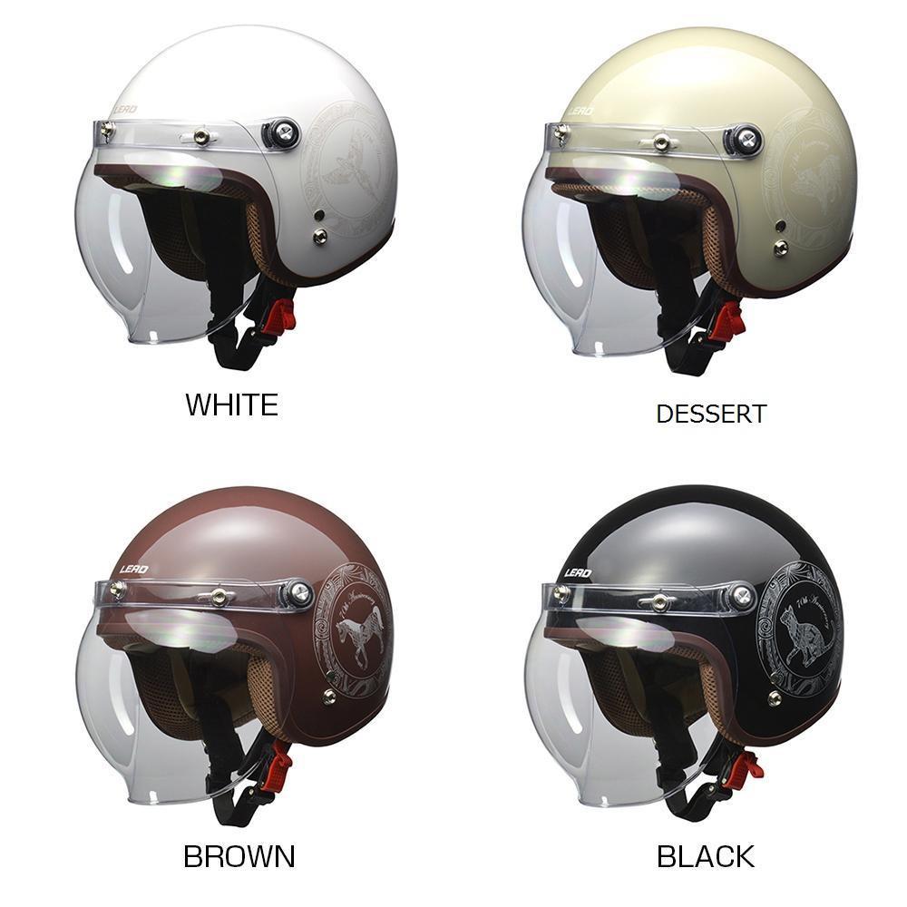 リード工業 NOVIA ジェットヘルメット 70thアニバーサリーモデル レディース フリーサイズ BROWN【代引不可】【北海道・沖縄・離島配送不可】