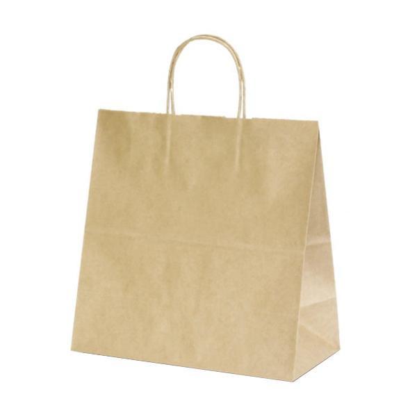 T-6W 自動紐手提袋 紙袋 紙丸紐タイプ 300×150×300mm 300枚 茶無地 1685【代引不可】【北海道・沖縄・離島配送不可】