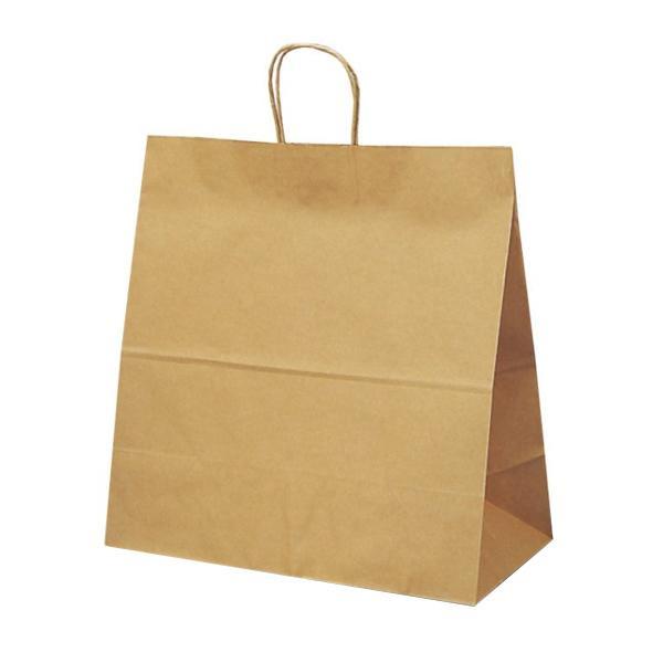 T-15W 自動紐手提袋 紙袋 紙丸紐タイプ 450×220×460mm 200枚 茶無地 1299【代引不可】【北海道・沖縄・離島配送不可】
