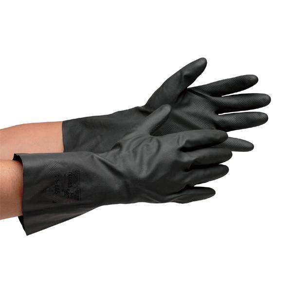 東和コーポレーション(TOWA) 耐薬品・耐溶剤用手袋 ネオプレン 10双 ブラック 865 L【代引不可】【北海道・沖縄・離島配送不可】