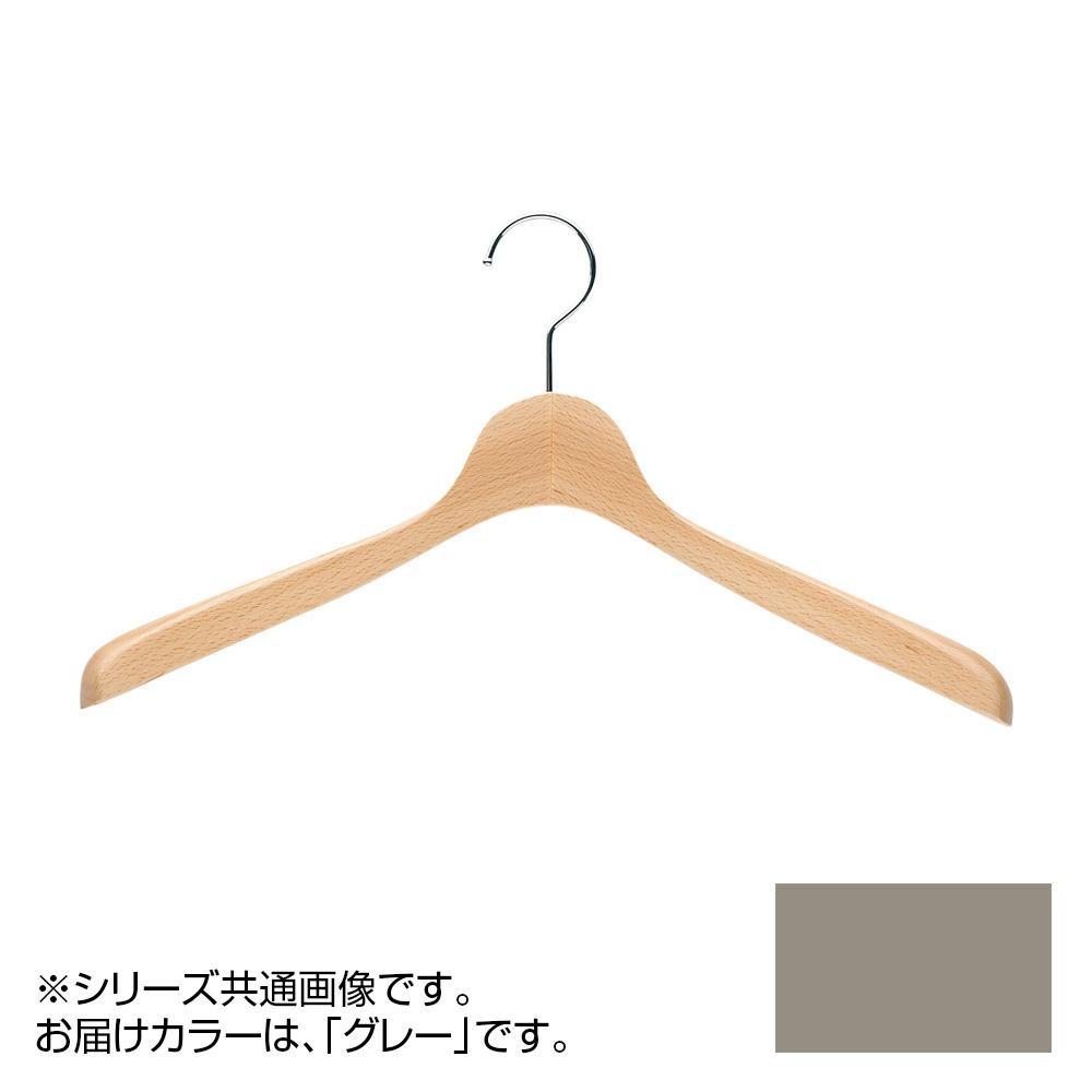 日本製 木製ハンガーメンズ用 T-4120 グレー 5本セット 肩幅42cm×肩厚4cm【代引不可】【北海道・沖縄・離島配送不可】