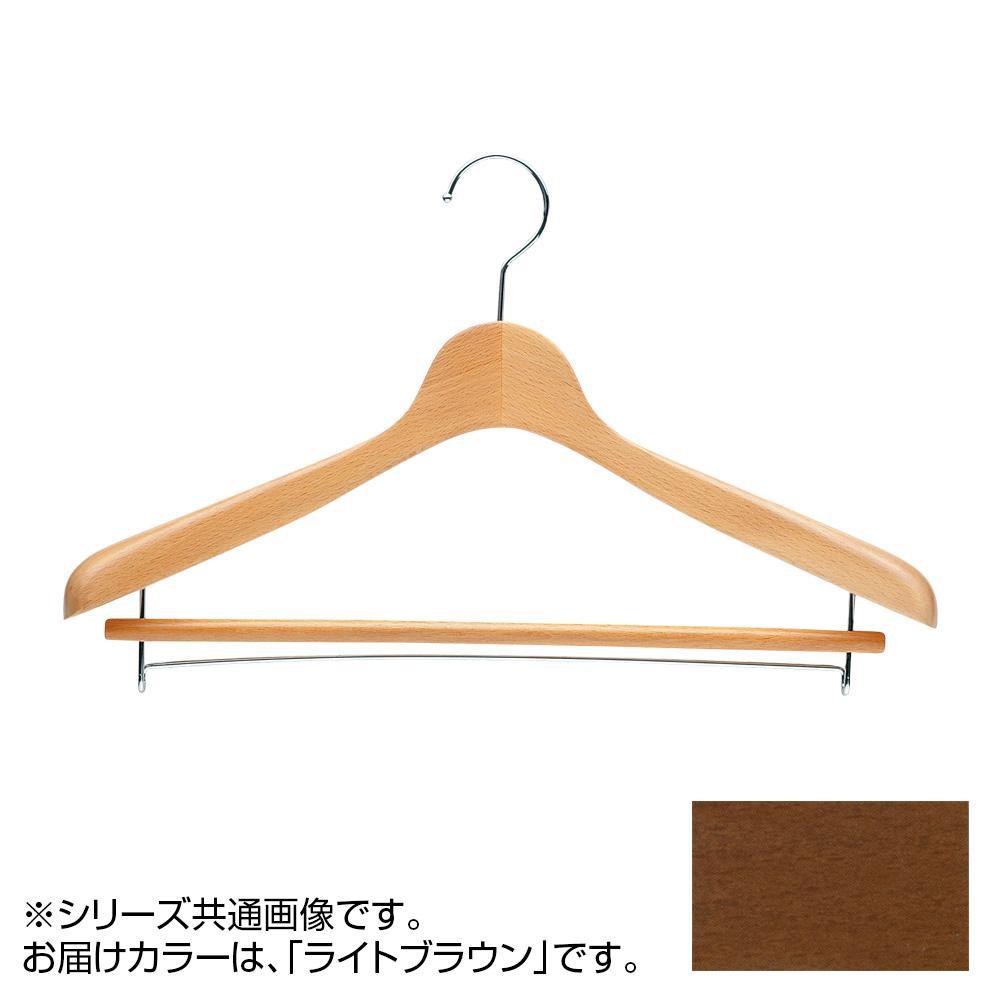 日本製 木製ハンガーメンズ用 ライトブラウン 5本セット T-4121 バー付 肩幅42cm×肩厚4cm【代引不可】【北海道・沖縄・離島配送不可】