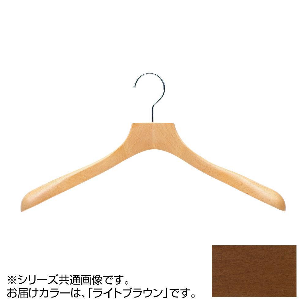 日本製 木製ハンガーレディス用 ライトブラウン 5本セット T-5406 肩幅38cm×肩厚4cm【代引不可】【北海道・沖縄・離島配送不可】