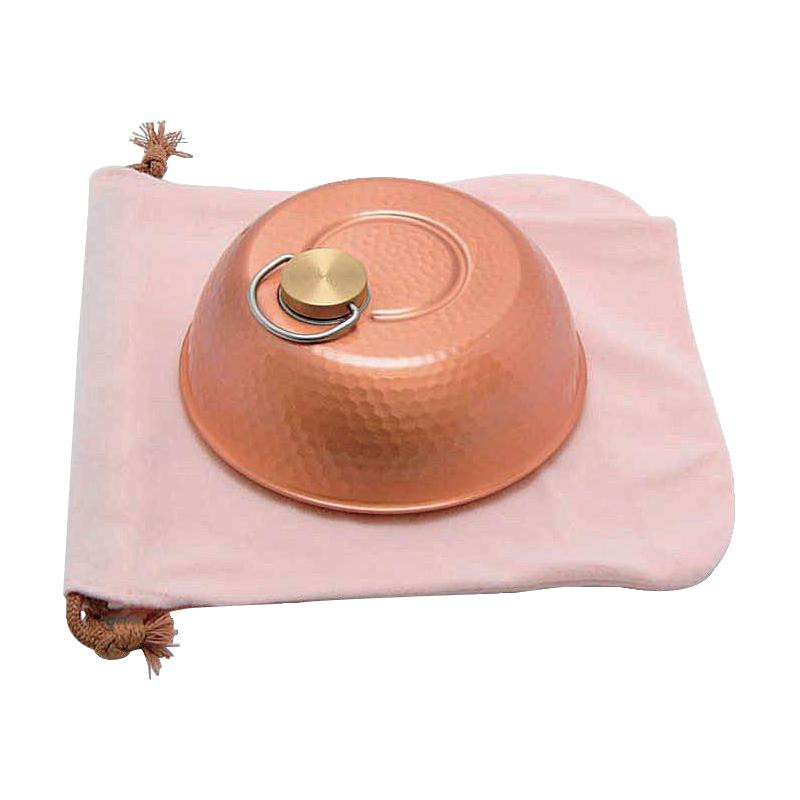 新光堂 銅製ドーム型湯たんぽ(小) S-9398S【代引不可】【北海道・沖縄・離島配送不可】
