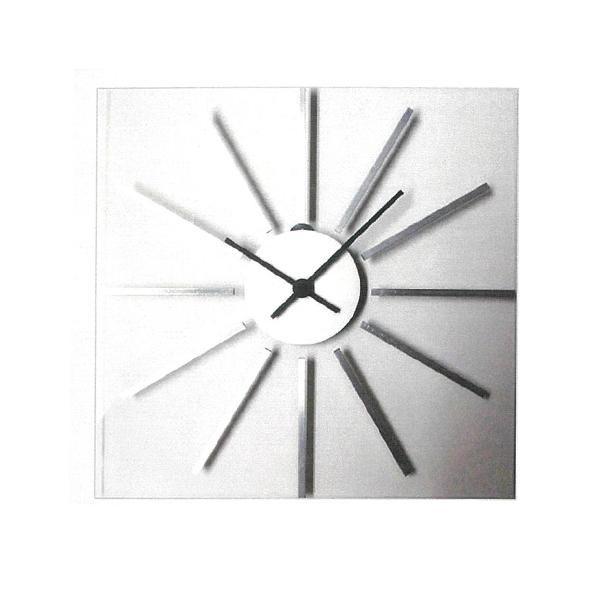 アルミグラスの時計 シルバー V-1【代引不可】【北海道・沖縄・離島配送不可】
