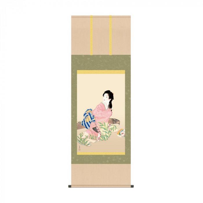 掛軸 上村松園「娘深雪」 KZ2G9-022 54.5×153cm【代引不可】【北海道・沖縄・離島配送不可】