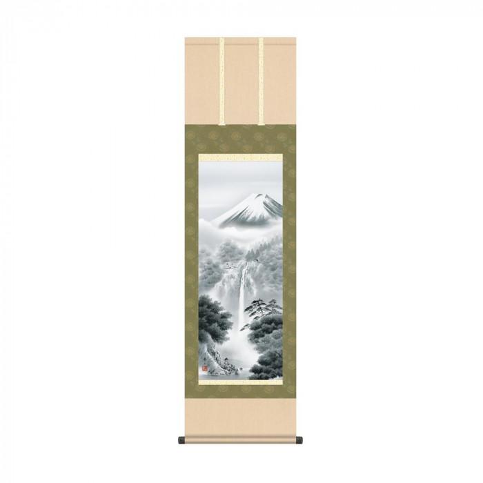 掛軸 鈴村秀山「富士幽谷」 KZ2MB2-070 44.5×164cm【代引不可】【北海道・沖縄・離島配送不可】