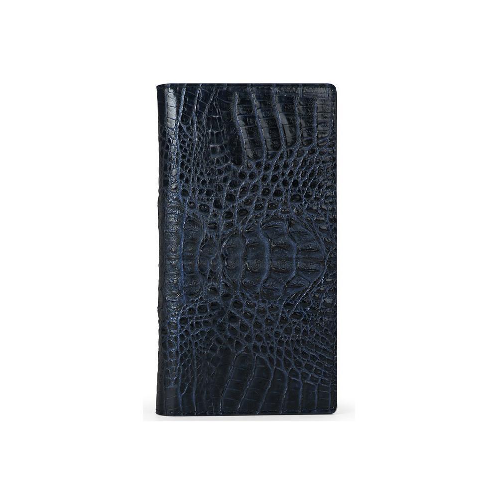 HANSMARE(ハンスマレ) iPhone 11 スライド式手帳型ケース CROCO DOUBLE FLIP CASE ネイビー HAN18305i61R【代引不可】【北海道・沖縄・離島配送不可】