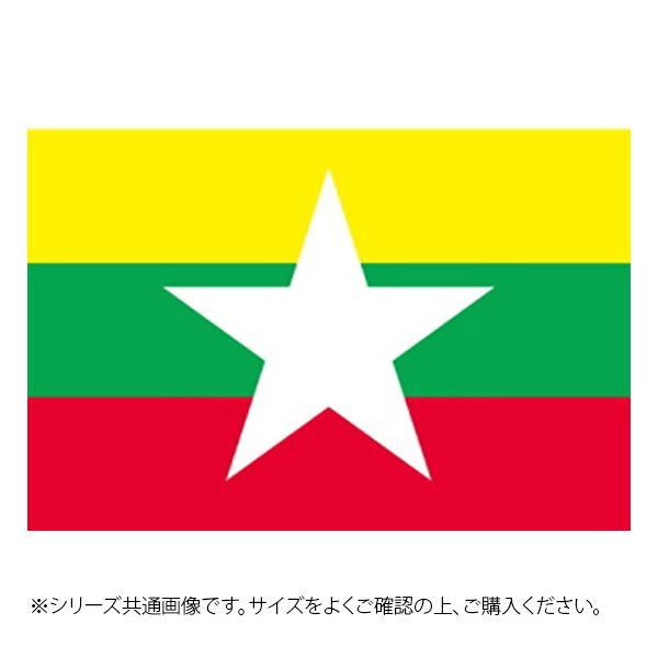 N国旗 ミャンマー No.1 W1050×H700mm 23503【代引不可】【北海道・沖縄・離島配送不可】