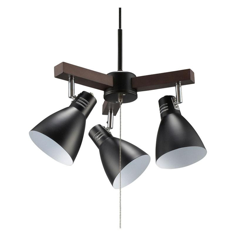 OHM 3灯ペンダントライト 電球別売 ブラック LT-YN30AW-K【代引不可】【北海道・沖縄・離島配送不可】