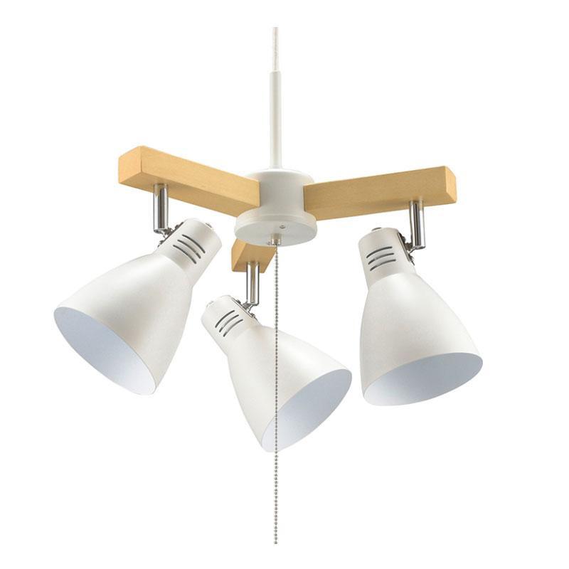 OHM 3灯ペンダントライト 電球別売 ホワイト LT-YN30AW-W【代引不可】【北海道・沖縄・離島配送不可】