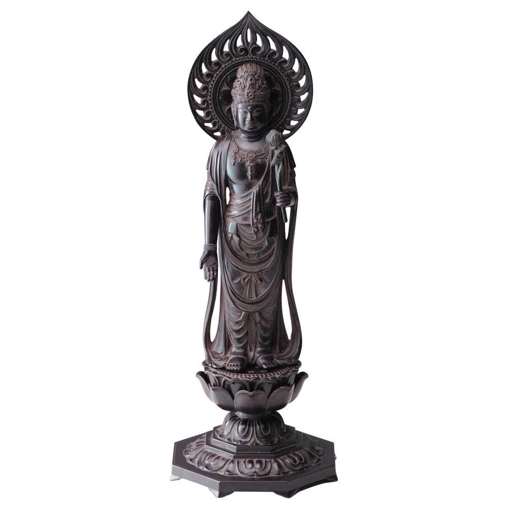 インテリアとして飾れる仏像です 聖観音菩薩 36cm 古美茶 沖縄 <セール&特集> 通信販売 離島配送不可 代引不可 北海道