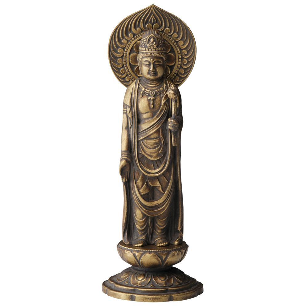 インテリアとして飾れる仏像です 聖観音菩薩 16cm 古美金 離島配送不可 テレビで話題 格安店 沖縄 代引不可 北海道