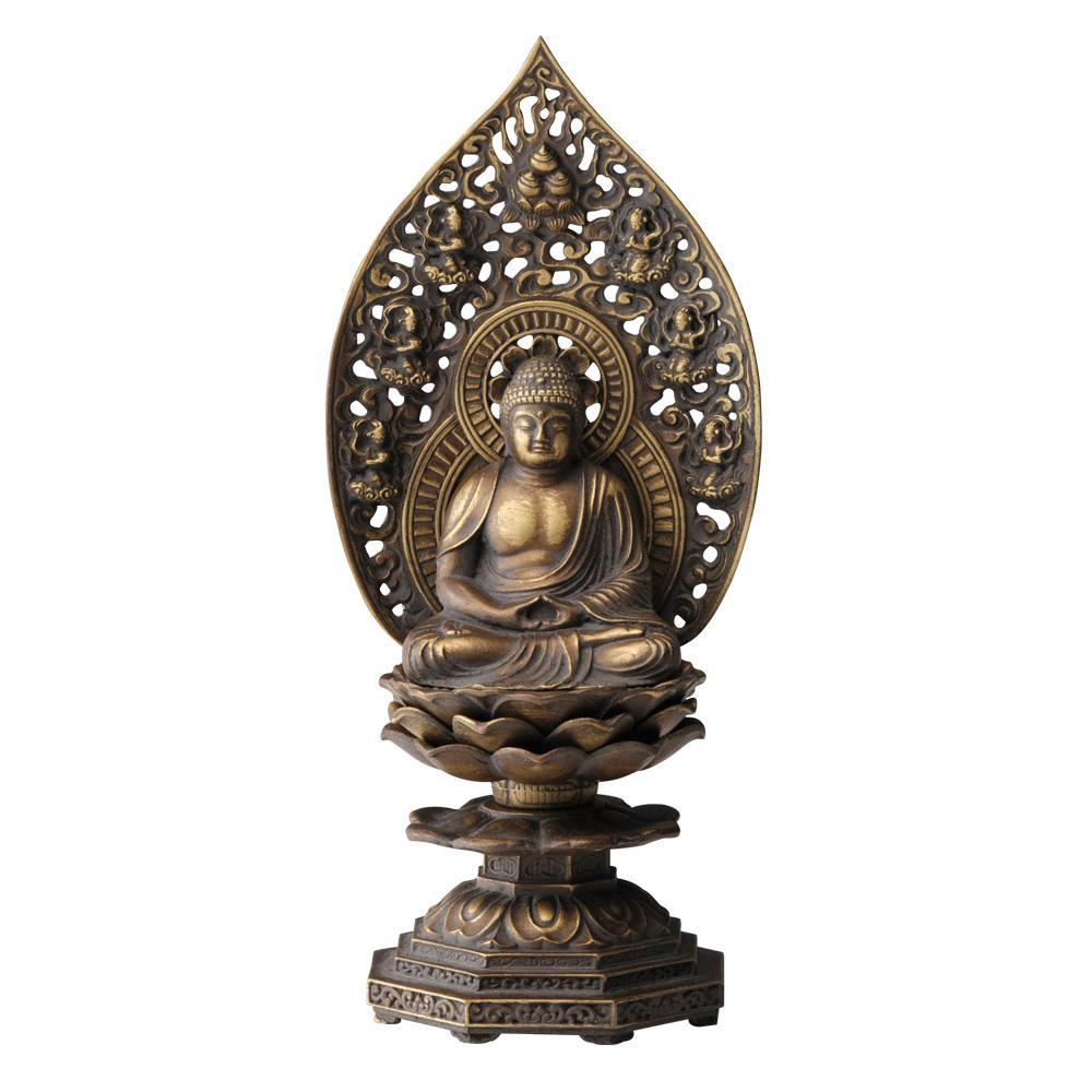 セール 登場から人気沸騰 インテリアとして飾れる仏像です 釈迦如来座像 18cm 古美金 沖縄 北海道 離島配送不可 代引不可 25%OFF