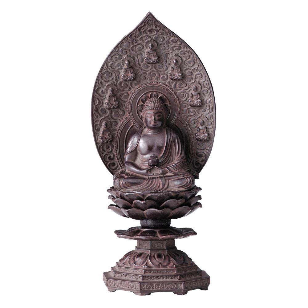 インテリアとして飾れる仏像です 薬師如来座像 18cm 古美茶 流行 北海道 感謝価格 離島配送不可 沖縄 代引不可