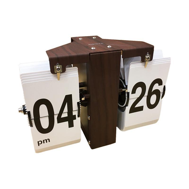 SLOWER(スロウワー) FLIP CLOCK LUFT WOOD フリップクロック ルフト SLW020【代引不可】【北海道・沖縄・離島配送不可】