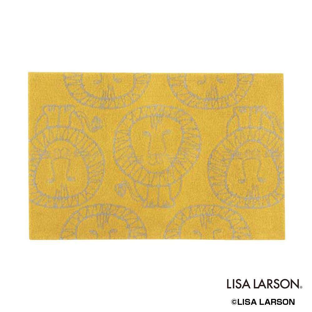 LISA LARSON(リサラーソン) ライオン ラグ 90×140cm YE・イエロー QB110275【代引不可】【北海道・沖縄・離島配送不可】