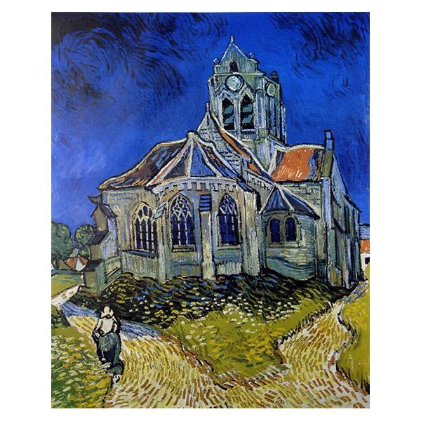 プリハード ヴィンセント・ヴァン・ゴッホ オーヴェールの教会 F3号 額縁C 1226【代引不可】【北海道・沖縄・離島配送不可】
