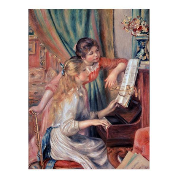 プリハード ピエール・オーギュスト・ルノワール ピアノに寄る娘達 F6号 額縁G 3248【代引不可】【北海道・沖縄・離島配送不可】